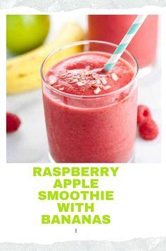 Strawberry Drink Recipes, Raspberry Recipes, Apple Recipes, Keto Recipes, Dinner Recipes, Healthy Recipes, Apple Smoothies, Healthy Smoothies, Smoothie Recipes