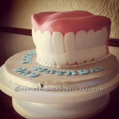 Coolest False Teeth Cake... This website is the Pinterest of birthday cake ideas
