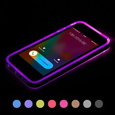 Call+LED+Blink+Transparent+TPU+Back+Cover+Case+For+iPhone+6+Plus(Assorted+Colors)+–+USD+$+4.99