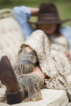 the dreamer fringe boot crackle brown - Junk GYpSy co.