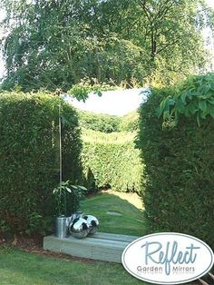 Outdoor Garden Mirror Large Acrylic Thick Plastic Mirrored Illusion New Garden Mirrors, Garden Wall Art, Small Gardens, Outdoor Gardens, Mirror Illusion, Garden Archway, Large Backyard Landscaping, Landscaping Ideas, Gardens