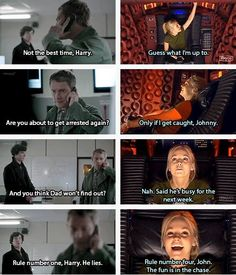 This is one WhoLock that I've never thought of! <-- that would make John the doctor's son. Does he have a fob watch?