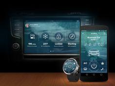 Automotive concept large view #infotainment