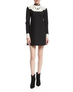 TBRR8 Valentino Long-Sleeve Two-Tone Shift Dress, Nero  Too short for me to wear, but I love it nonetheless