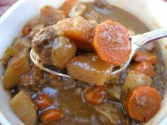 Tomato-less Rustic Beef Stew from SouthernPlate