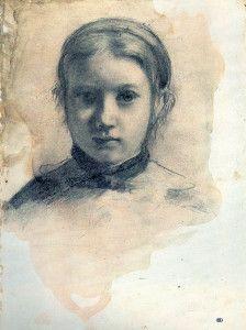 Edgar Degas | drawing, Giovannina Bellelli