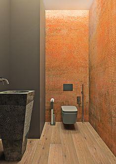 Dramatic interior of a charismatic bachelor on Behance Small Toilet, Cozy House, Architecture, Behance, Design, Decor, Ukraine, Bathrooms, Interiors