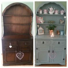 Shabby chic/ upcycled cute little dresser in Authentico chalk paint colour…
