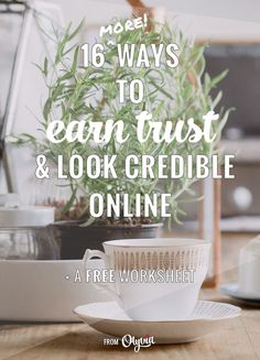 16 more ways to earn people's trust and look credible online as a business owner or blogger + a free worksheet!  This post will help you look more professional by upping your email, sales process, and online etiquette game!
