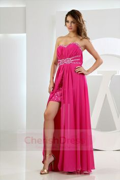 Sweetheart shinny cocktail dress