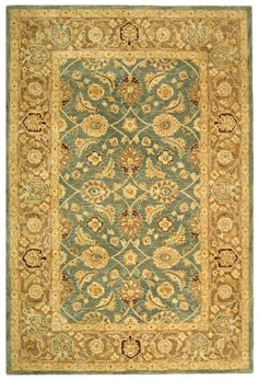 AN549B area rug by Safavieh - Collection: Anatolia - Color: Blue/Brown - Construction: Tufted Wool