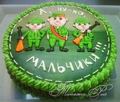 Оформление тортов для мужчин - к 23 февраля