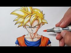 How To Draw Gohan Super Saiyan - Step by Step Tutorial! - YouTube
