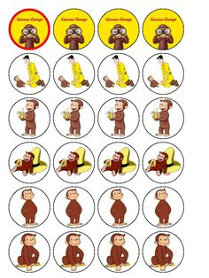 free printable curious george | Price: £ 5.40