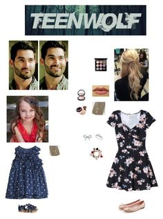 """Teen Wolf: The Hales attending a dinner party"" by nerdbucket ❤ liked on Polyvore featuring Hollister Co., Tiffany & Co., Mother Daughter Jewelry, Burberry, Ice, Maybelline, H&M, Salvatore Ferragamo and MAC Cosmetics"