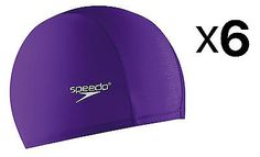 Swim Caps 117162: Speedo Adult Nylon Lycra Long Hair Swim Cap With Elastic Band Purple (6-Pack) -> BUY IT NOW ONLY: $54.89 on eBay!