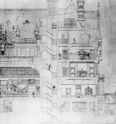 Cornelius Vanderbilt Mansion rendering