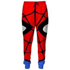 Spiderman Sweatpants ($90) ❤ liked on Polyvore featuring activewear, activewear pants, red sweat pants, red sweatpants, jogger sweat pants, red jogger sweatpants and jogger sweatpants