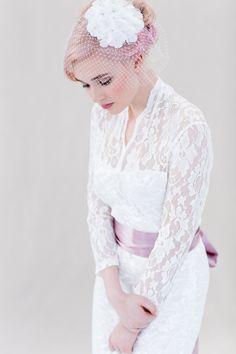 Brautschleier/Brautschmuck // bridal head piece, veil via DaWanda.com