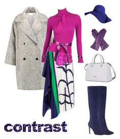 """Winter contrast"" by ira-trutneva on Polyvore featuring мода, Vince, Tanya Taylor, Karl Lagerfeld, Nine West и Dents"