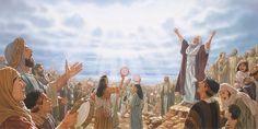 Israelitas dando gracias a Jehová en una canción de alabanza