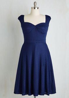 Prove your Groove Dress in Navy | Mod Retro Vintage Dresses | ModCloth.com