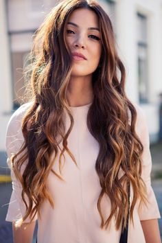 brown beach wave perms long hairstyle for girl
