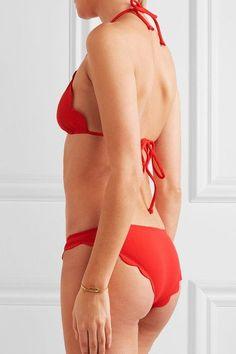 Marysia - Broadway Scalloped Bikini Briefs - Red - medium