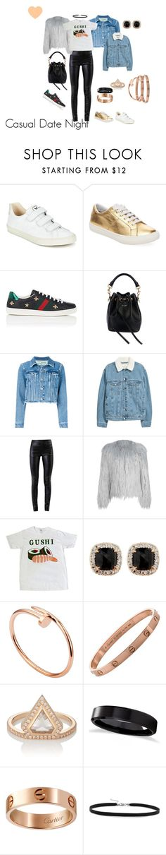 """""""Sushi Night"""" by kensiekins-1 on Polyvore featuring Veja, Marc Jacobs, Gucci, Yves Saint Laurent, Off-White, Helmut Lang, WithChic, Jona, Cartier and Eva Fehren"""
