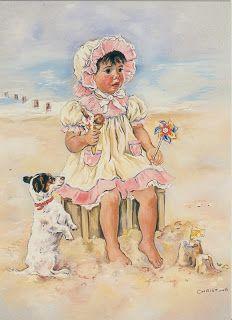 belles images de c haworth - Page 4 Vintage Artwork, Vintage Images, Decoupage, Baby Clip Art, Gif Animé, Am Meer, Freelance Illustrator, Cute Characters, Cute Illustration