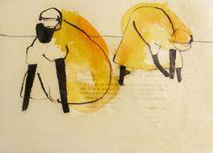Die Kreativschmiede [an der Zschopau] - Tusche auf Papier, gewachst Disney Characters, Fictional Characters, Dogs, Paper, Palette Knife, Seashells, Random Stuff, Artworks, Canvas