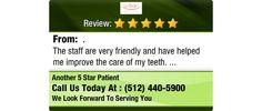 The staff are very friendly and have helped me improve the care of my teeth.