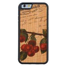 Vintage French Chic Cherries Carved® Cherry iPhone 6 Bumper Case