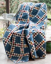 Liz Porter's Irish Chain is fat quarter friendly and strips sets make it possible to create a perfect quilt for any occasion.