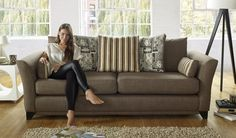 This sofa looks amazing! Leather Fabric, Leather Sofa, Sofa Bed, Couch, Pop Collection, Cushion Filling, Comfortable Sofa, Fabric Sofa, Sofa Furniture