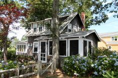 13 Ocean Street, Brewster, MA - $599,000, 2 Beds, 2 Baths. Absolute VINTAGE 1940\'s bungalow just four lots from the association beach on Cape Cod Bay! Pretty, private and level lot defined by split rail fencing, natural hedge, hydrangeas and an assortment of trees and shrubs. There are two porches off of the kitchen; one screened and the other , on the front of the cottage, enclosed. A bath on each floor...