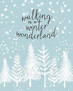 Winter Wonderland Free Printable