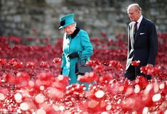 Magical: The Queen and the Duke of Edinburgh paid a visit to the Tower of London's Blood S...