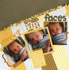 Sweet+Baby+Faces - Scrapbook.com-Needs to have title in upper left corner