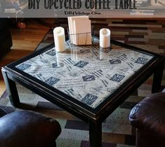 DIY Pallet ideas for Home: DIY Upcycled Coffee Table