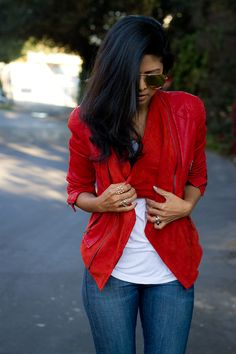 . Love this!! Red jacket!! #HTCOneRed
