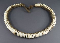 FINE OCEANIC CONUS SHELL TRIBAL CURRENCY DISC NECKLACE PAPUA NEW GUINEA P.N.G £263.99 (31B)