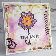 Card by Shirley featuring Folk Flowers