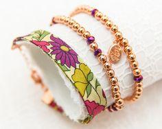 Liberty Rose Gold Bracelet Trio - Poppy & Daisy