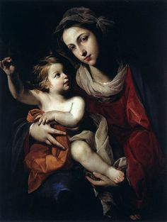 "v-ersacrum: ""Massimo Stanzione, Virgin and Child, c.1645 """