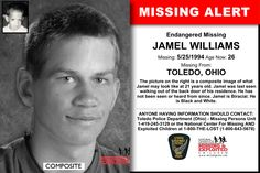 JAMEL WILLIAMS, Age Now: 26, Missing: 05/25/1994. Missing From TOLEDO, OH. ANYONE HAVING INFORMATION SHOULD CONTACT: Toledo Police Department (Ohio) - Missing Persons Unit 1-419-245-3129.