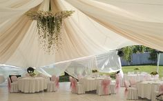 Свадебный банкет в шатре: плюсы и минусы