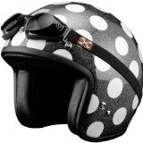 SparX Old School Bobber Open Face Pearl Motorcycle Helmet Polka Dots w/Goggles LG Reviews - http://vintagemotorcyclehelmets.net/sparx-old-school-bobber-open-face-pearl-motorcycle-helmet-polka-dots-wgoggles-lg-reviews/