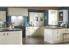 Love these colours for the kitchen