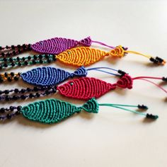 Macrame fish necklace